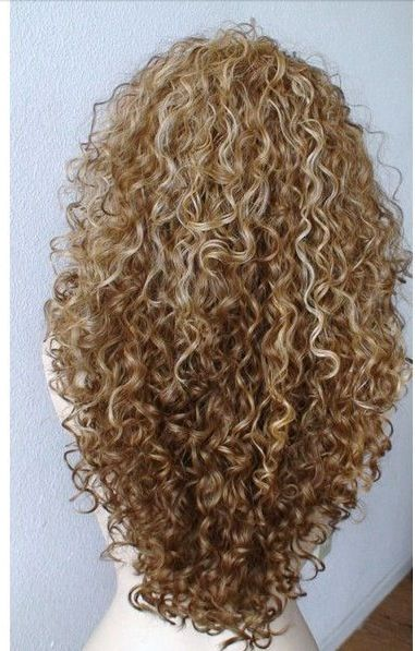 Curly blonde & dirty blonde highlights/ombré