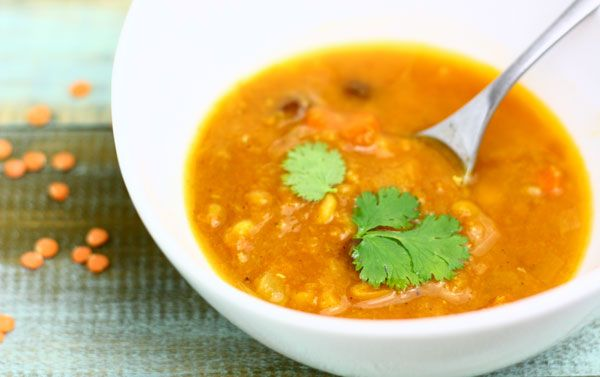 meatless monday featuring red lentil coconut soup - The Talking ...