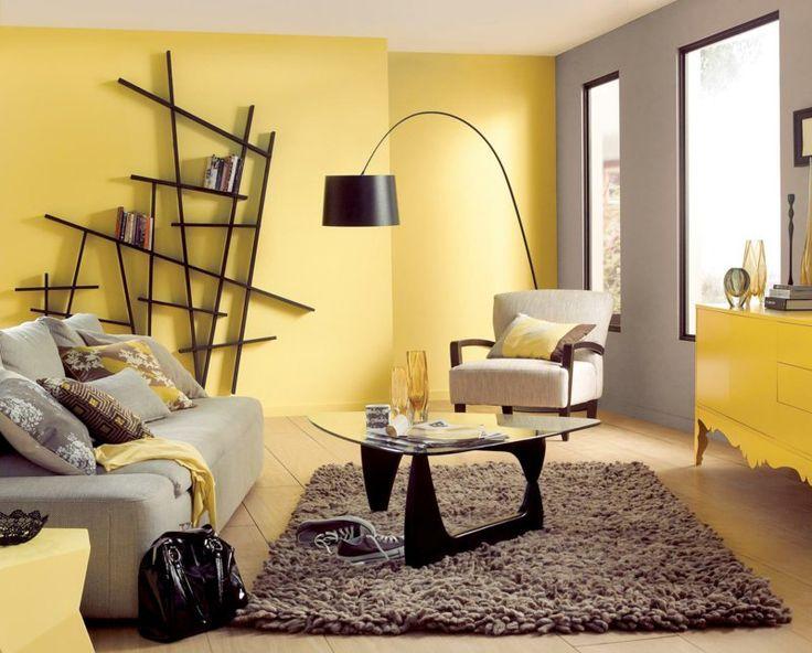 wandfarbe wohnzimmer trend 2016:Wohnzimmer Wandfarbe in Gelb