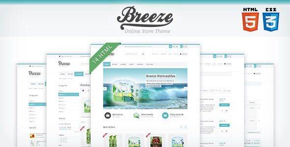 Breeze — HTML5 & CSS3 store template - ThemeForest Item for Sale