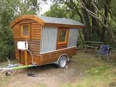 A self-build camper project from New Zealand made mostly from salvaged materials: http://humble-homes.com/polly-an-ingenious-self-build-camper-made-from-salvaged-materials/