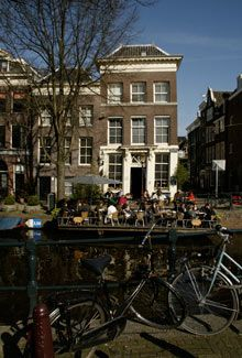 Cafe 't Smalle, Amsterdam great terrace on the water, old brown cafe, great simple food and coffees