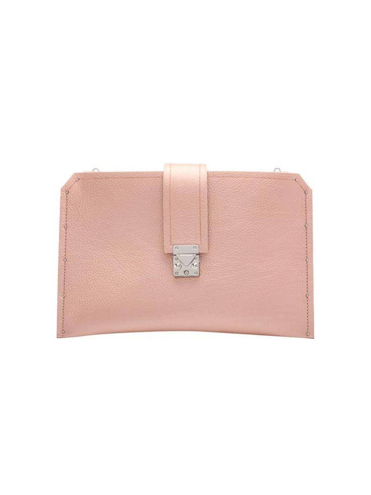 blushed leather iPad case