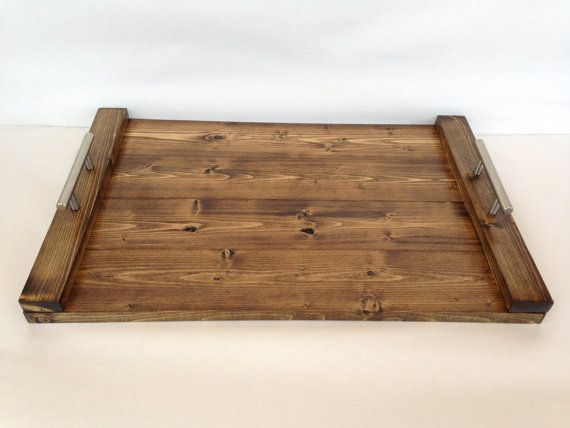 Wood Tray Modern Tray Rustic Tray Serving Tray By RebeccaBloomArts