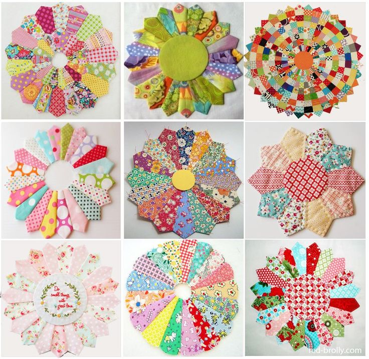 Dresden Plates:the new quilt trend. - Red Brolly