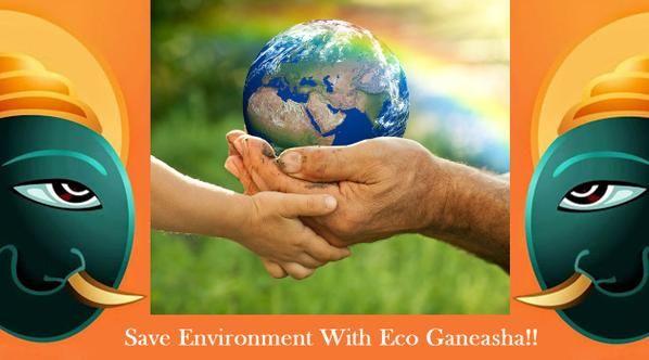 Save #environment with #Ecoganesha.  #ganesha #ganeshchaturthi #savewater #ganeshutsav