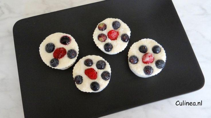 Bevroren yoghurt cupcakes