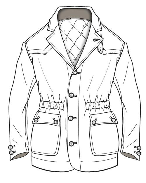 Line Drawing Jacket : Line drawing http wingavenue fashion