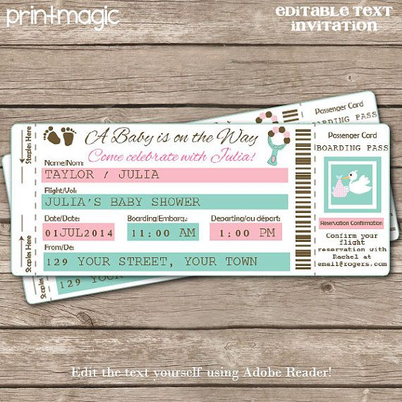 42 best Airplane ticket invitation images on Pinterest Ticket - invitation ticket
