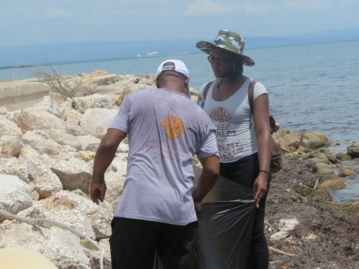 Clarendon #LeoClub (Jamaica) collected over 600 pounds of garbage during a beach clean-up