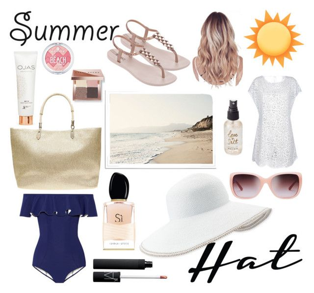 """Summer Hat"" by polyvorestar10 on Polyvore featuring Lisa Marie Fernandez, Eric Javits, Tory Burch, Dorothy Perkins, IPANEMA, NARS Cosmetics, Olivine, Bobbi Brown Cosmetics, Giorgio Armani and summerhat"