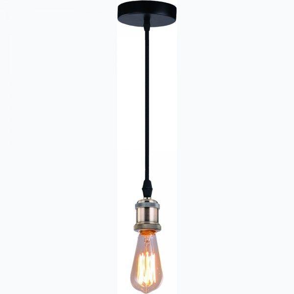 Современная подвесная люстра в стиле лофт с металлической арматурой цвета черный/бронза