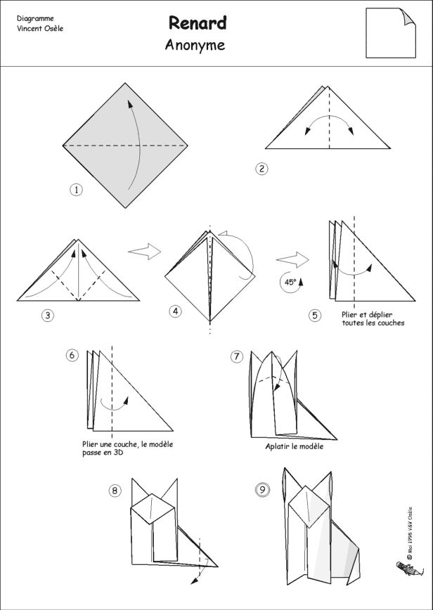934 best images about origami flora and fauna on pinterest origami frog simple origami and - Origami chat facile ...