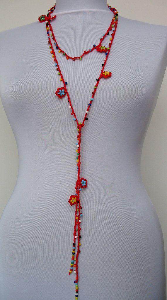crochet necklace / bracelet