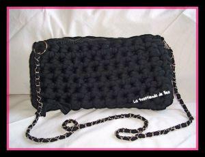 Bolso negro de trapillo