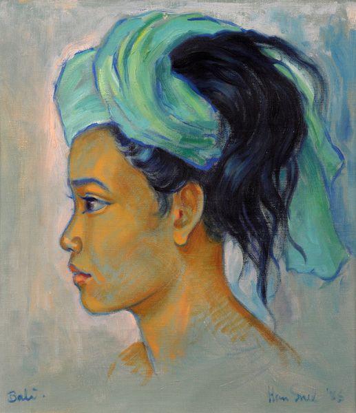 Han Snel - Portret van zijn vrouw, Made Site.