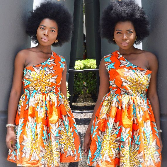 African print dress, Ankara dress, African clothing, African fashion, African…