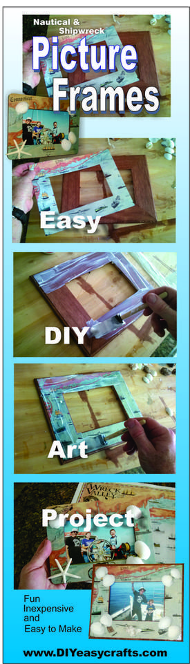 How to make nautical picture frames.