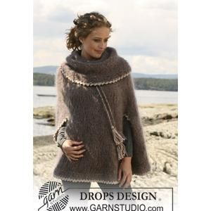 Knitting Pattern Poncho With Collar : 17 Best images about Ponchos on Pinterest Drops design ...