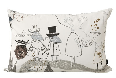 Mountain Friends - Cushion - Illustration Ulrika Gustafsson - Ferm Living