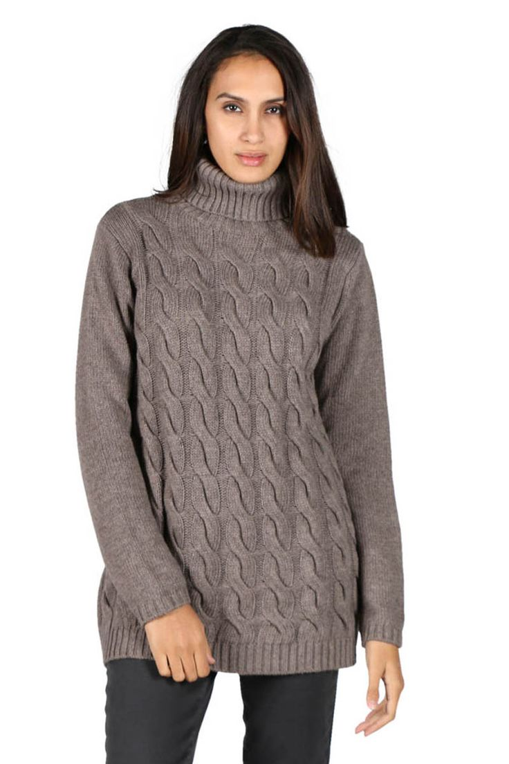 Bridge & Lord - Cable Knit Jumper By Bridge & Lord In Mink