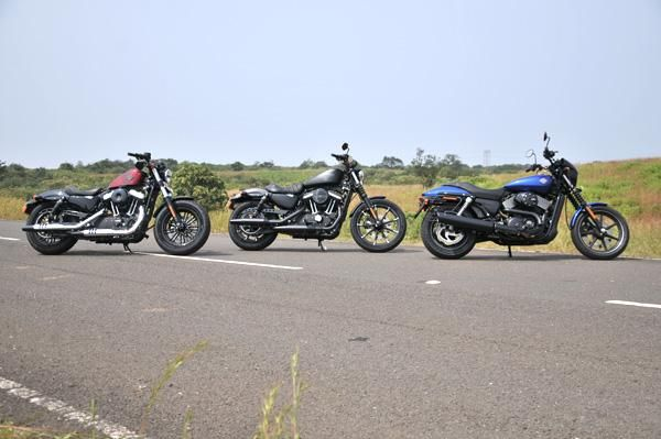 We spend an afternoon with three members of the 2016 Harley-Davidson Dark Custom family.