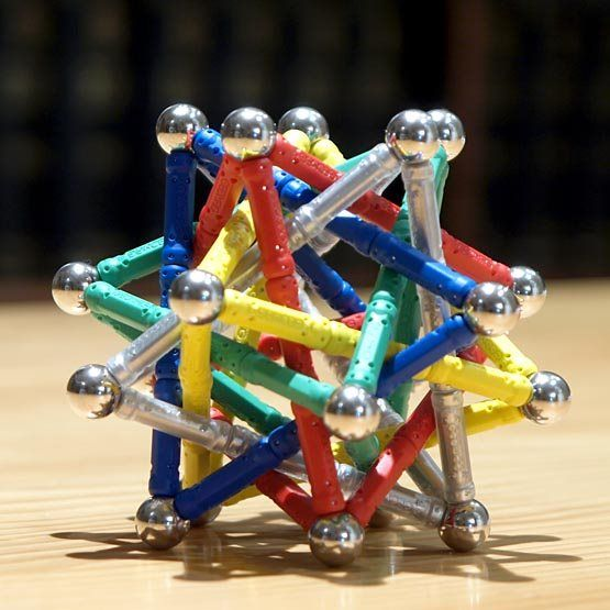 GEOMAG constructions: Compound of five tetrahedra, view 3