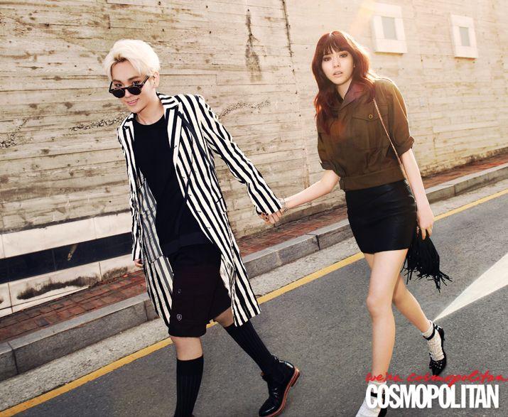 SHINee's Key and Wife Yagi Arisa pose for April Issue of Cosmopolitan   Koogle TV