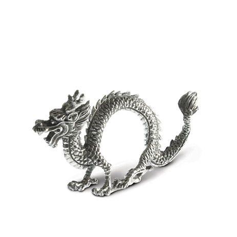 Vagabond House Dragon Napkin Rings, Set of 4