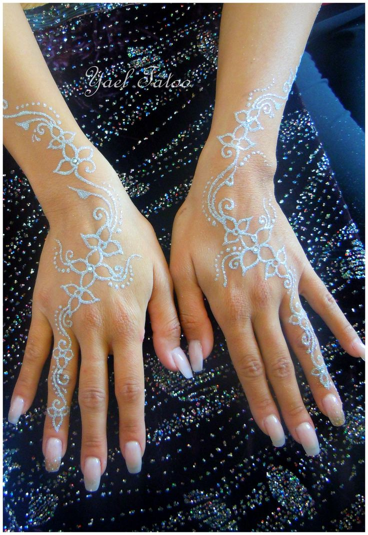 tatouage paillette blanche par yael tatoo le henn version lgance facebook ayael - Tatouage Paillette Mariage