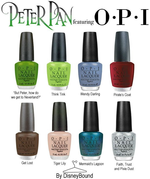 O.P.I. Peter Pan Collection! OMG.. WHEN DOES THIS COME OUT?!? I LOVE LOVE TINKERBELL!