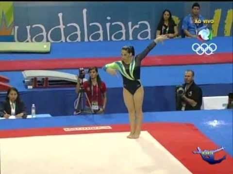 ▶ Daniele Hypolito (BRA) FX EF Pan American Games Guadalajara 2011 - YouTube