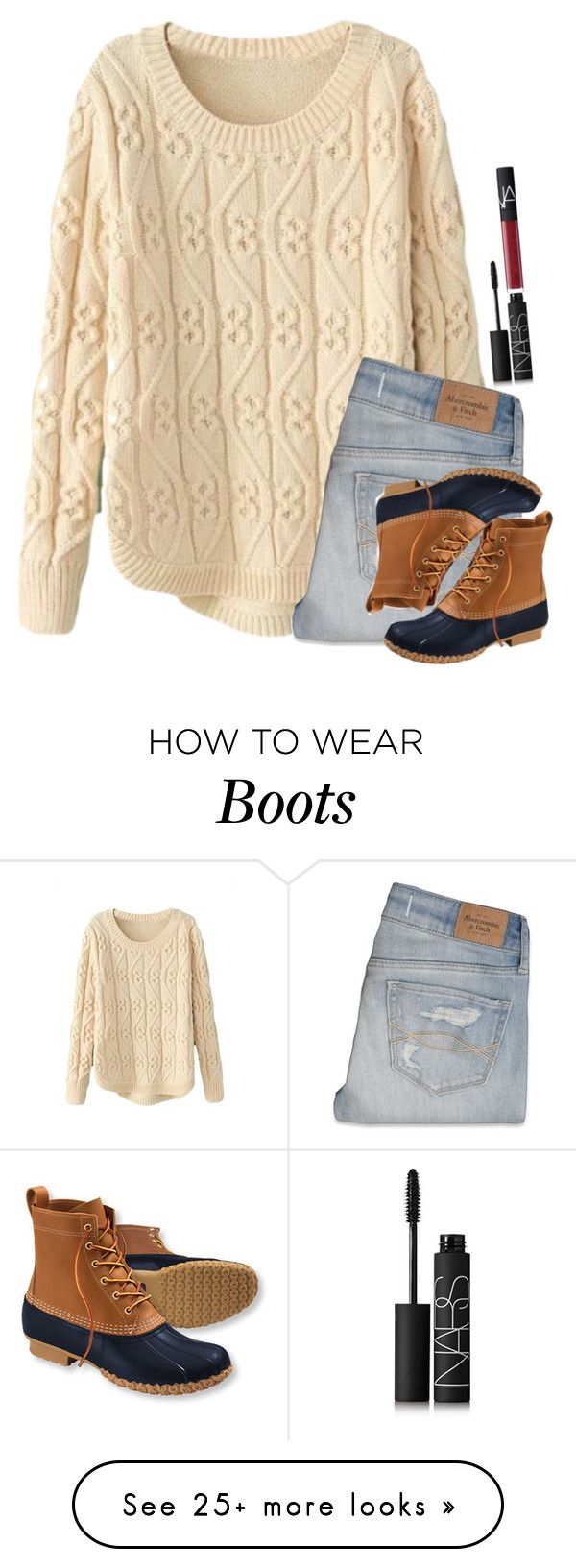 """""""Bean boots! ❤️"""" by meljordrum on Polyvore featuring Abercrombie & Fitch, L.L.Bean and NARS Cosmetics"""