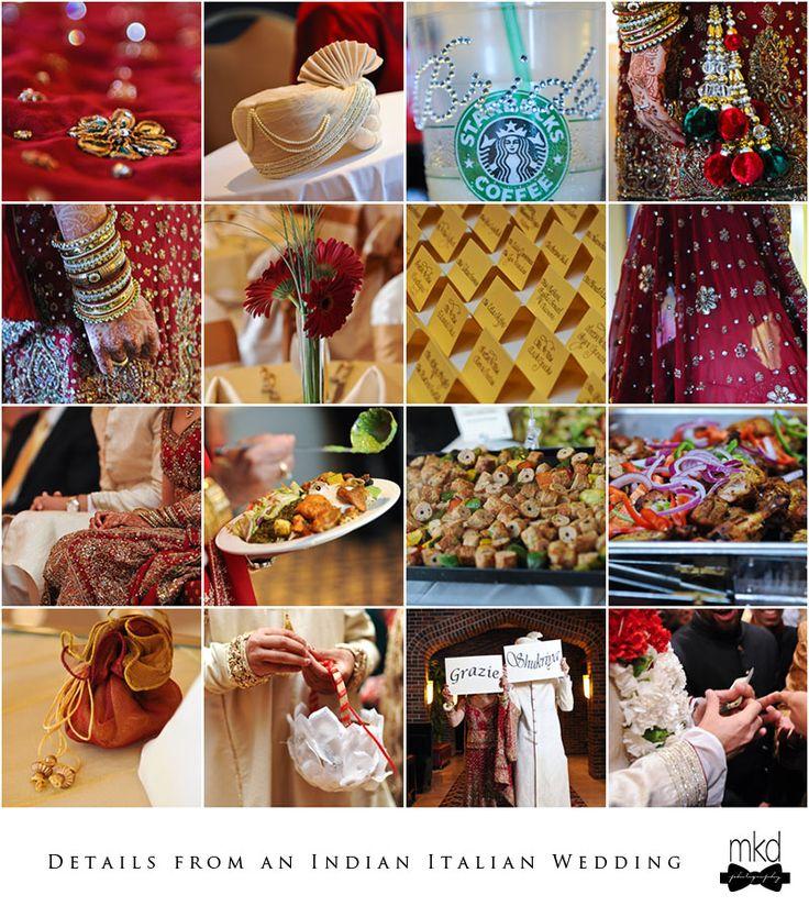 italian weddings | Details: Indian/Italian Wedding