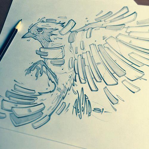 as vezes queria ser como pássaro e voar pra longe dos meus problemas