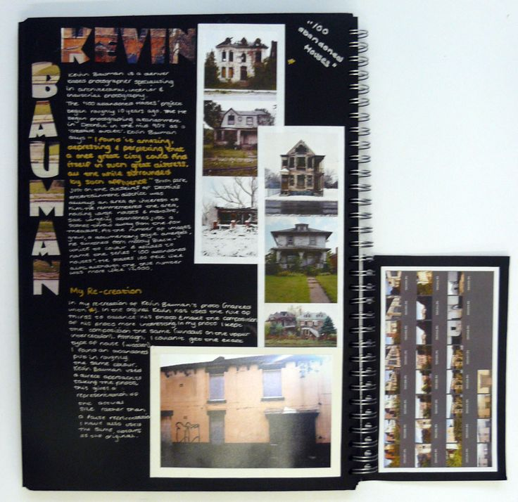 AS Photography Sketchbook, Artists study page, Kevin Bauman, Thomas Rotherham College, 2014