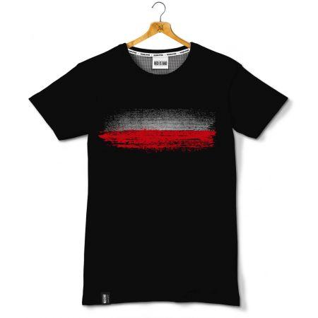 Koszulka patriotyczna Polska Flaga v.2 - odzież patriotyczna, koszulki męskie Red is Bad