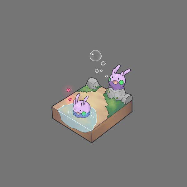 Cute little goomy pokemon habitat