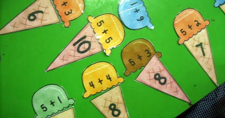 Mis alumnos de 5 años ya están sumando sin problemas en el ámbito de los números 0 - 10. Primero comenzaron sumando objetos concretos dent...