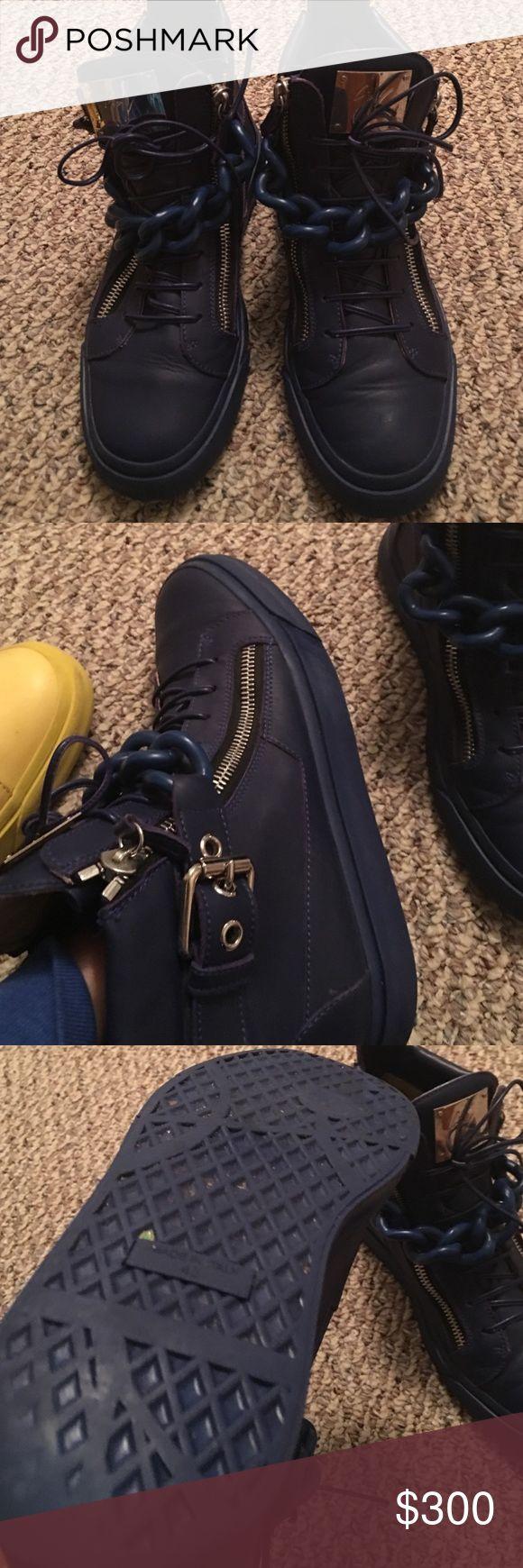 Men's Guiseppe Zanotti Sneakers Blue sz 43 Giuseppe Zanotti Shoes Sneakers