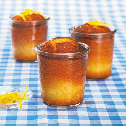 Zitronenkuchen im Glas