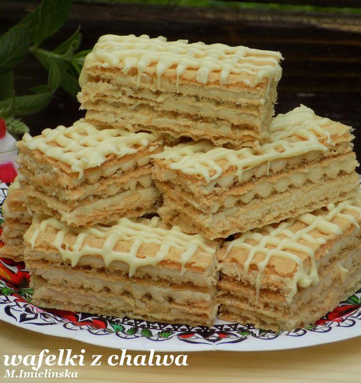 Domowa Cukierenka - Domowa Kuchnia: wafelki z chałwą i białą czekoladą
