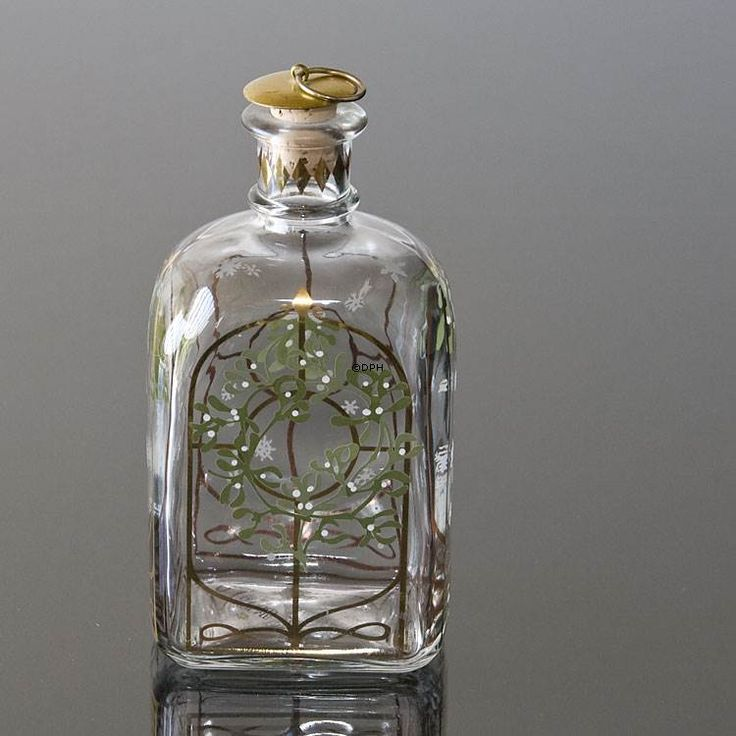 Holmegaard Christmas Bottle 2005, capacity 65 cl.