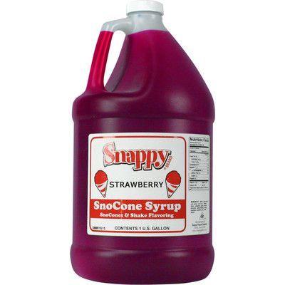 Snappy Popcorn Snow Cone Syrup Flavor: Strawberry