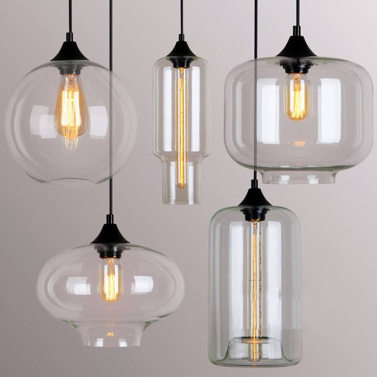 A Selection Of Art Deco Styled Glass Ceiling Lightsc With Decorative Filament Light BulbCeiling