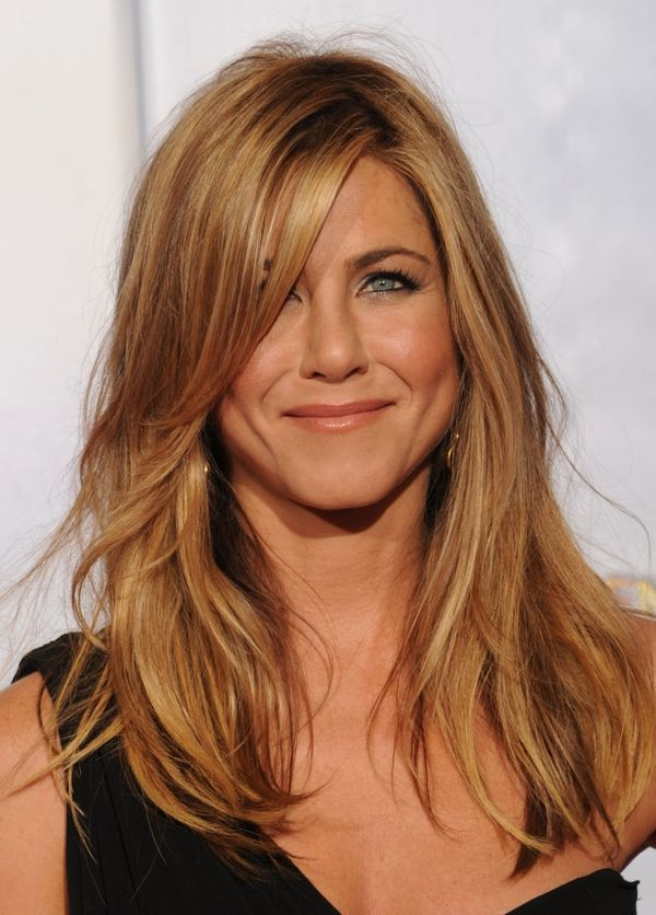 Long Layered Haircuts With Bangs Long Layered Hair In 2019 In 2020 Jennifer Aniston Hair Color Long Layered Hair Jennifer Aniston Hair