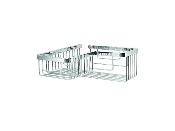 LB Filo Bath Corner Shower Caddy Shelf for Shampoo, Conditioner, Brass Chrome