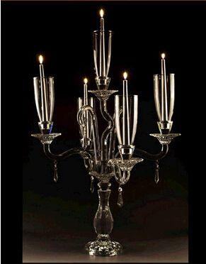 Free shipping European candle holders wedding Fiesta Inn Hotel restaurant high-grade crystal candlestick ornaments