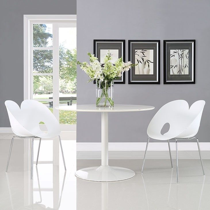 Envelope Dining Set Set Of 2 In White