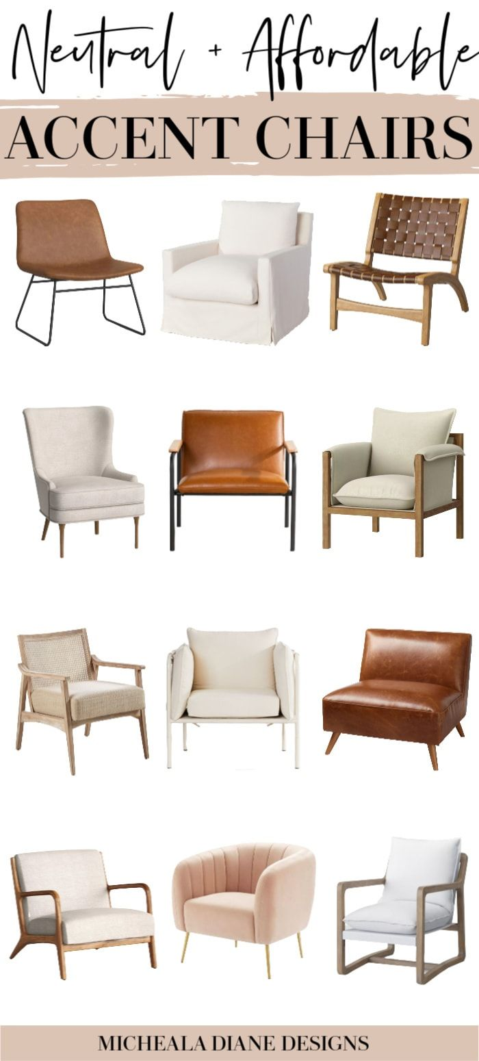 Affordable Neutral Accent Chairs In 2020 Modern Farmhouse Li